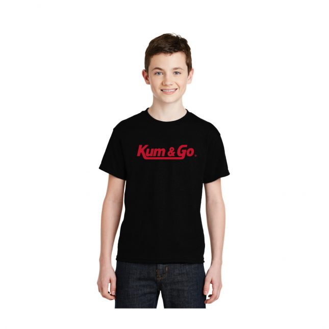 KG0320 Black Kum Go Logo Youth Tee Model