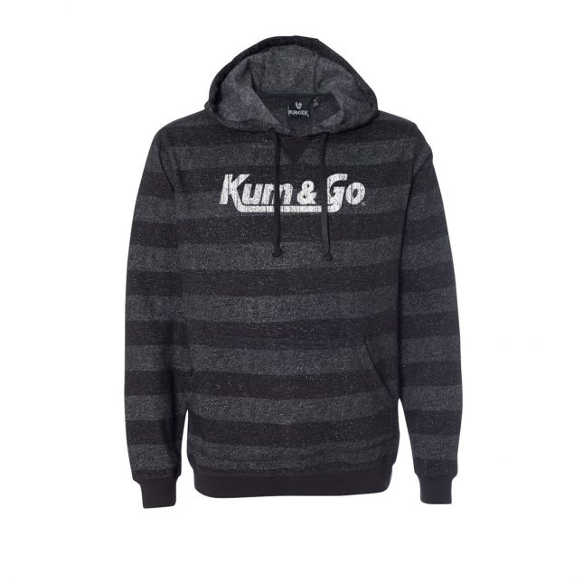 KG20 Printed Stripes Fleece Sweatshirt blackcharcoal 1200