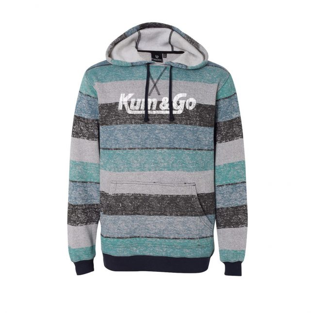 KG20 Printed Stripes Fleece Sweatshirt lightblueblack 1200
