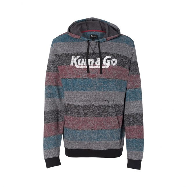 KG20 Printed Stripes Fleece Sweatshirt redblack 1200