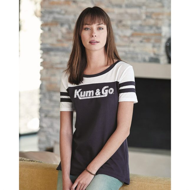 KG20 Womens Vintage Jersey Stadium Tee model 1200